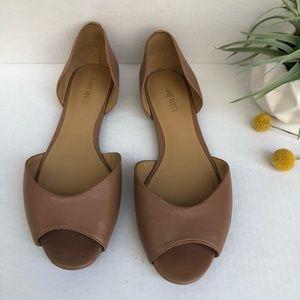 Nine West Open Toe Flats Size 9.5